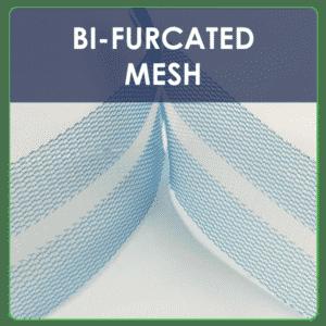 Custom design BI-FURCATED MESH