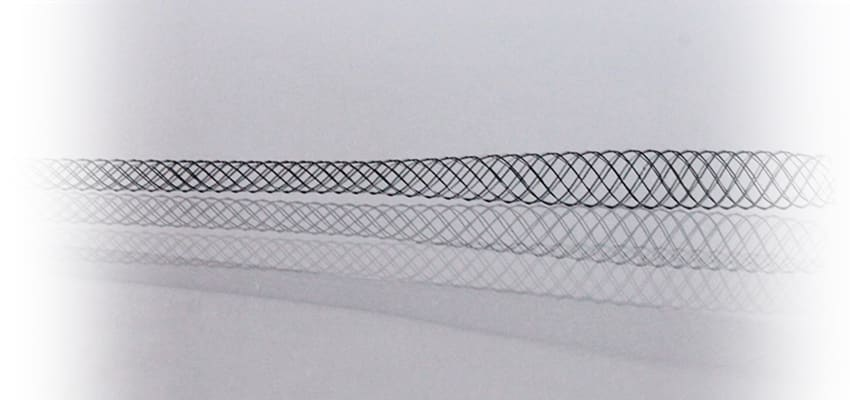 Tapered nitinol braid 3 - 96 ends