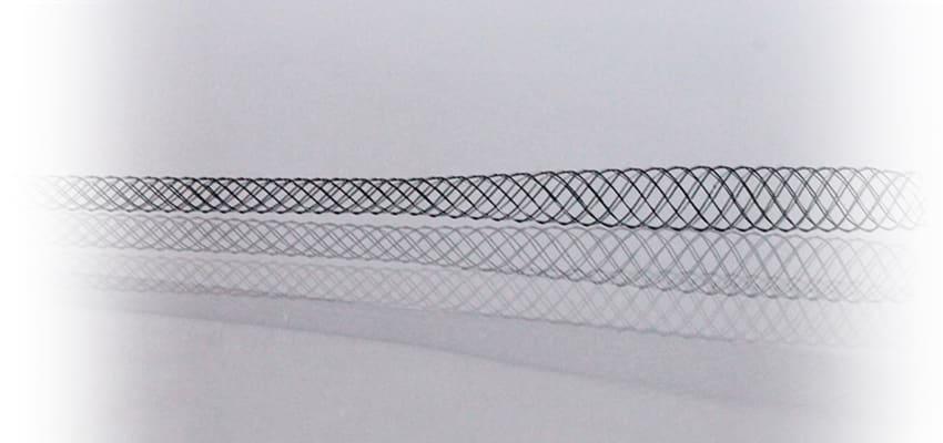 Tapered nitinol braid 3 - 96 ends