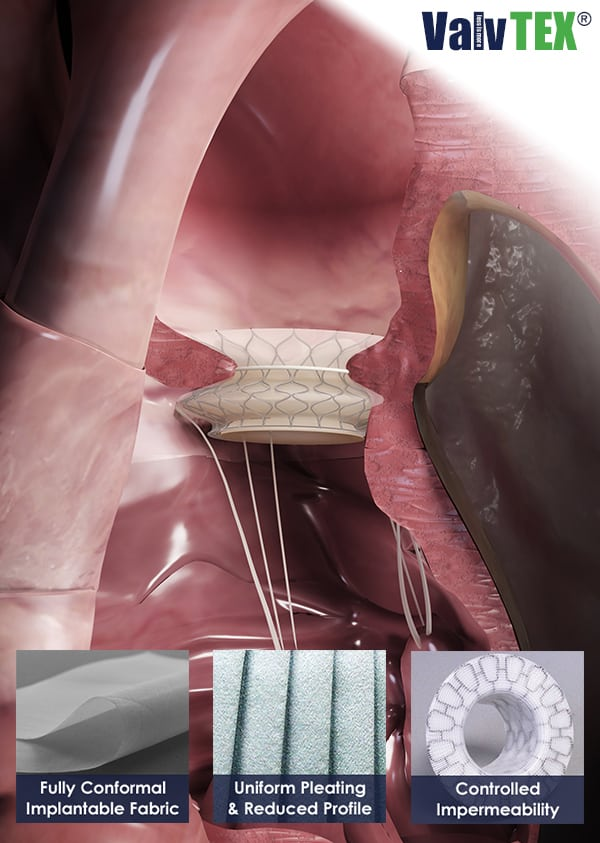 Lowest Profile Fabric for Heart Valves