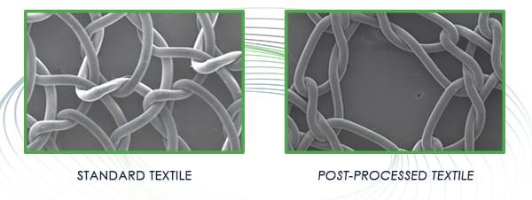 Post processed fabric SEM image comparison